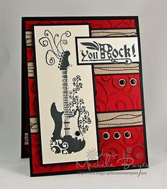 Made a version of this card for my brother in laws birthday, love it a good masculine card.  Bought the stamps at Michaels