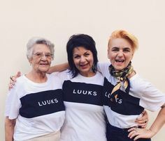 Three generations - Ouma Chrissie Kilian, Christa von Wielligh & Crystal Birch wear LUUKS. To place your order visit www.mevrouandco.com.