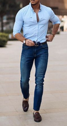Cool Casual Look! Mens Style Guide, Men Style Tips, Stylish Men, Men Casual, Casual Shirts, Casual Outfits, Mode Man, Men's Fashion, Fashion Outfits