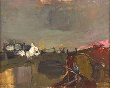 Joan Eardley RSA (British, 1921-1963) Catterline 34 x 44 cm