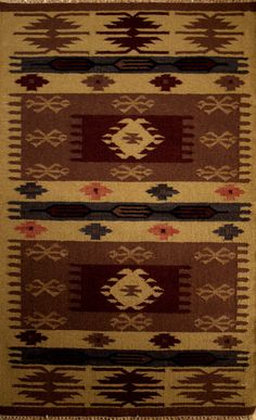 Picture of 3X5 Dhurrie. This style of rug is woven all over the world, but the best designer dhurries come from Northern India and should be made from 100% local wool.