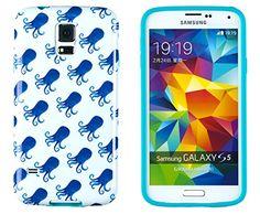 Samsung Galaxy S5, Octopus, Cell Phone Accessories, Flexibility, Aqua, Slim, Phone Cases, Amazon, Cover