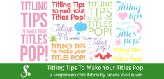 By using one of these three simple titling tips using only fonts, you can help make your titles on your digital scrapbook pages pop!