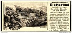 Original-Werbung/Anzeige 1898 - GLOTTERBAD IM SCHWARZWALD - ca. 90 x 40 mm
