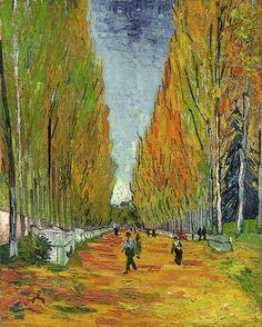 A tela 'L'Allée des Alyscamps', de Vincent Van Gogh