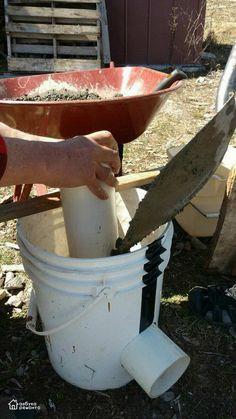 Ракетная чудо-печь из бетона на дачу своими руками