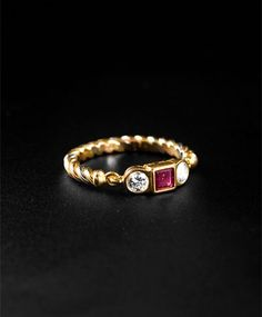 Cartier 1990 Ruby Ring.