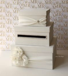 Wedding Card Box Money Box Gift Card Holder  by jamiekimdesigns