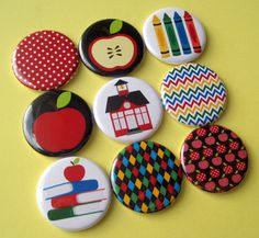 Teacher Button Magnets by Stuck Together Magnets, $14.00