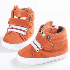 What Does the Fox Say Velcro Crib Sneakers