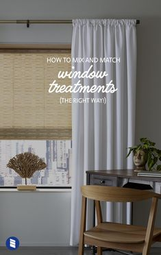 Want help matching curtains and blinds to get the layered look just right? We'll share all our advice for mixing and matching window treatments to help you get a designer-quality look for less. Window Treatments, Curtain Decor, Curtains Living Room, Curtains, Living Room Arrangements, Dining Room Curtains, Rustic Living Room, Shutters With Curtains, White Window Treatments