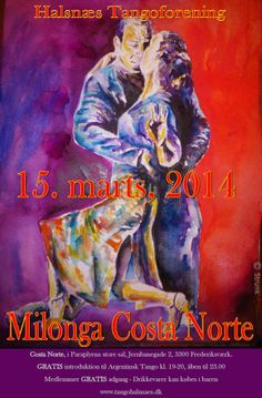 Halsnæs Tangoforening invites you to Milonga march 15th - 19:00-23:00