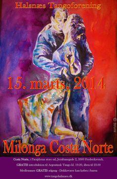Halsnæs Tangoforening invites you to Milonga march 15th - 19:00-23:00
