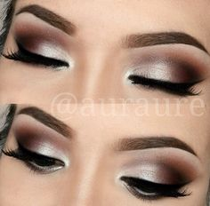 Very sultry but shuttle smokey eye. Perfect for a wedding day look.