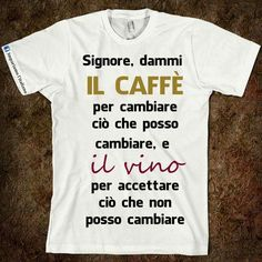 Dammi il caffè ........... Smile Quotes, Funny Quotes, Funny Images, Funny Pictures, Italian Humor, Learning Italian, In Vino Veritas, Improve Yourself, Lettering