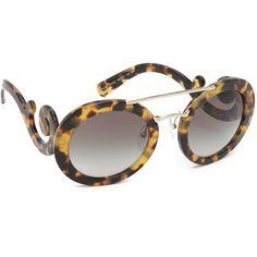 46bf31627c Prada Catwalk Oversized Sunglasses featuring polyvore