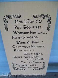 10 commandments in easy words!