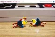 ON SALE Nintendo earrings  Joust  Video game by TheGeekyTavern, $10.00#MedievalJousting #JustJoustIt
