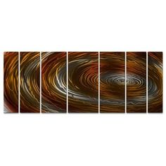 Nebula Contemporary 4 Metal Panels Abstract Wall Sculpture Art by Ash Carl