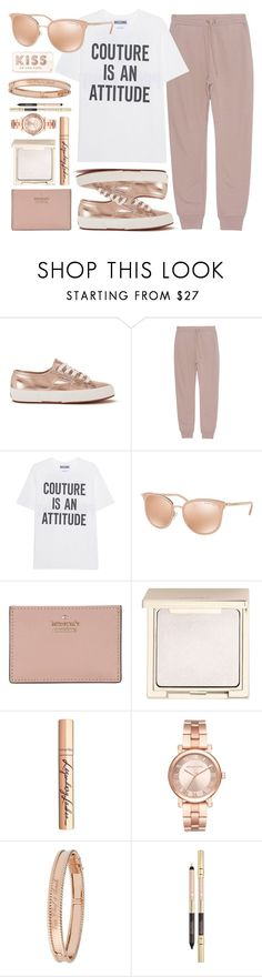 """""""Attitude"""" by smartbuyglasses ❤ liked on Polyvore featuring Superga, T By Alexander Wang, Moschino, Michael Kors, Kate Spade, Jouer, Charlotte Tilbury, Van Cleef & Arpels, white and Pink"""