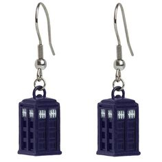 These earrings make a great gift for any female Doctor Who fan. Hopefully they won't de-materialize off your ears.