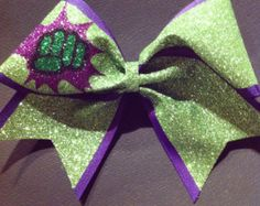 3in. Glitter Thor Superhero Cheer Bow by BowsByTeri on Etsy
