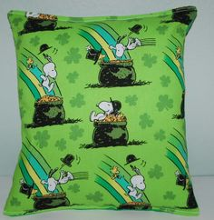 Spongebob lamp shade lampshade traditional sugar and spice snoopy pillow charlie brown irish snoopy handmade in usa pillow is approximately 10 x 11 aloadofball Choice Image