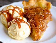 Recette : Tarte aux pommes caramel. Keto Diet For Beginners, Fall Desserts, Apple Recipes, Nutella, Deserts, Baking, Breakfast, Ethnic Recipes, Food