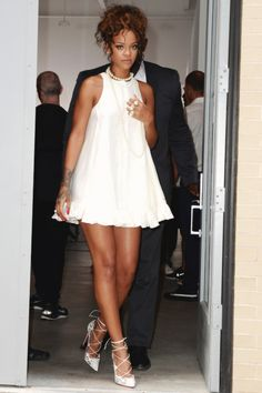 """ Rihanna leaving the Adam Selman Fashion Show """