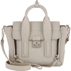 3.1 Phillip Lim Women's Pashli Mini-Satchel (42.920 RUB) ❤ liked on Polyvore featuring bags, handbags, accessories, сумки, light grey, genuine leather handbags, mini purse, handbag satchel, mini satchel handbags and mini satchels