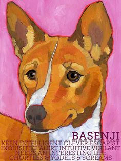 And here's our Buffy Girl! Basenji No 1  2x3 magnet from original oil painting by ursuladodge, $5.99
