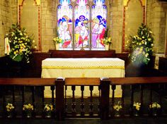 St Giles, Ludford, Easter 2012 - altar rail and sanctuary