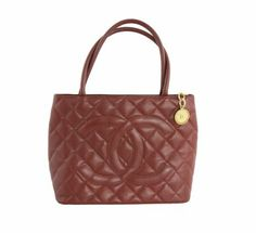 Chanel Red Medallion Tote Bag