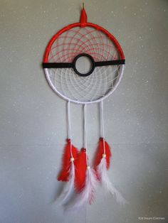 Pokeball Inspired Dream Catcher New 2016 by SOSDreamCatchers