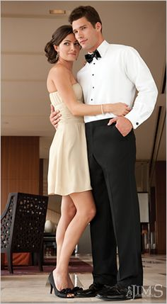 Flat front tuxedo pants are perfect for the groom who likes a clean look with no pleats.