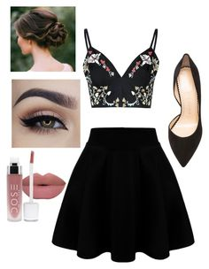 """""""Skirt & crop top"""" by caitlin-z ❤ liked on Polyvore featuring Glamorous and Charlotte Olympia"""