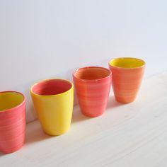 Colorful espresso cups handmade  espresso cups by PotsbyNives