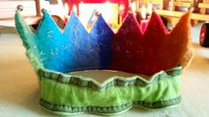 Our felted birthday crown
