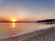 ( Morning Now at Hakata bay in Japan ) 5:38 新しい一日が始まった博多湾です。今日もよい日でありますように。
