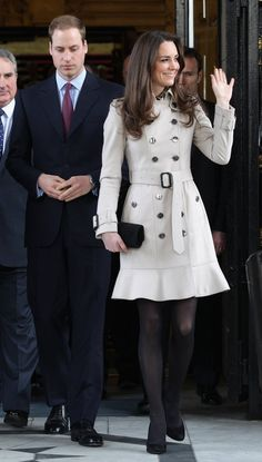 Pin for Later: The Ultimate Guide to Kate Middleton's Elegant Outerwear Kate Middleton at Ireland's City Hall in 2011