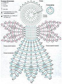Photo - Her Crochet Vintage Crochet Patterns, Crochet Motifs, Christmas Crochet Patterns, Holiday Crochet, Crochet Diagram, Crochet Doilies, Crochet Flowers, Crochet Angel Pattern, Crochet Angels