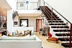 desire to inspire - desiretoinspire.net - VillaLlucmajor - floating staircase with copper tube railing