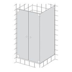 HSK Kienle Duschkabine mit Pendeltür und Seitenwand