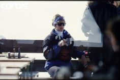 March 28, 1994: Princess Diana on a skiing holiday in Lech, Austria. Diana drinking her herbal tea.