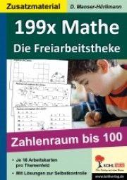 199x Mathe - die Freiarbeitstheke Zahlenraum bis 100