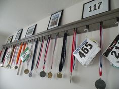 Higher Miles: Medals What a wonderful way of displaying medals etc.