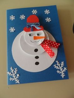 Ideas Diy Kids Winter Crafts Snowman For 2019 Diy Christmas Cards, Christmas Crafts For Kids, Christmas Activities, Xmas Cards, Kids Christmas, Holiday Crafts, Christmas Decorations, Christmas Gifts, Christmas Snowman