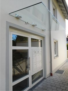 Vordach Fabrikverkauf Entrance Doors, Garage Doors, Canopy Glass, Halls, Aluminium Doors, Main Door, Marquise, Front Entrances, Window Design