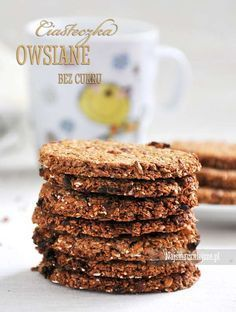 ciasteczka owsiane :) Healthy Cookies, Healthy Sweets, Snack Recipes, Dessert Recipes, Desserts, Polish Recipes, Gluten Free Baking, Coffee Recipes, Love Food