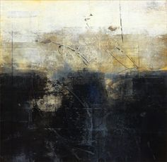"""Cody Hooper - """"Ancient Sea"""" acrylic abstract atmospheric paintings"""